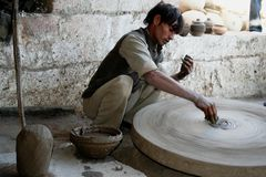 Traditional craftsmanship, India stock image