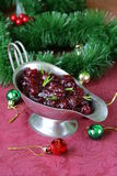 Traditional cranberry sauce with rosemary Royalty Free Stock Images