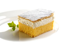 Traditional cream cake from Slovenia Stock Photography