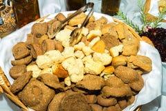 Traditional Cretan dry baked whole grain rusks. royalty free stock photos