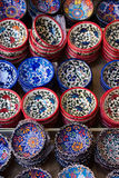 Traditional Cretan painted ceramic dishes for sale at a city centre shop Crete, Greece, Europe. Stock Photography