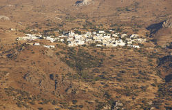 Traditional cretan village in the mountain. Crete. Greece Royalty Free Stock Photography