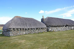 Traditional Crofters Cottages Stock Photos