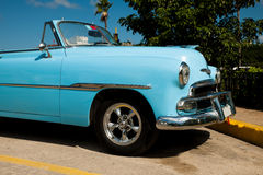 Traditional cuban car, retro american oldtimer. Royalty Free Stock Photography