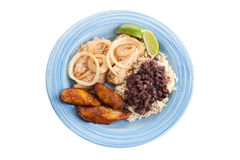 Traditional Cuban Dinner with Path Stock Photography