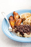 Traditional Cuban Meal Royalty Free Stock Photo