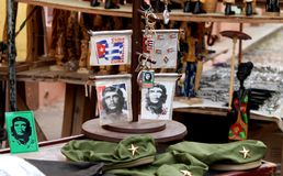 Traditional Cuban souvenirs with Che Guevara Stock Photo