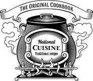 Traditional cuisine label Stock Image