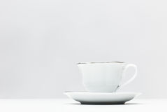 Traditional cup and saucer Royalty Free Stock Images