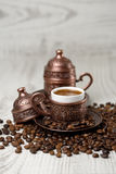 A traditional cup of turkish coffee. Royalty Free Stock Photo