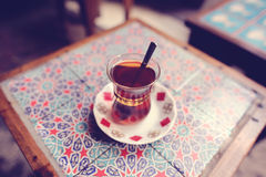Traditional cup of turkish tea Stock Image