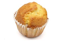 Traditional cupcake. Traditional sponge-cake realized of handcrafted form royalty free stock image
