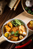Traditional curry spicy noodle soup Stock Photo