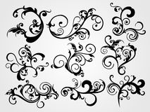 Traditional curve pattern tattoos Stock Images