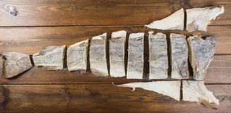 Traditional cut of salted cod Stock Photography