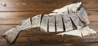 Traditional cut of salted cod Royalty Free Stock Photography