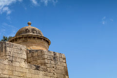 Traditional cylindrical guard tower Gardjola, on the walls of Va Stock Photography