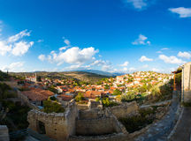 Traditional Cypriot mountain village Lofou. Limassol District Royalty Free Stock Image