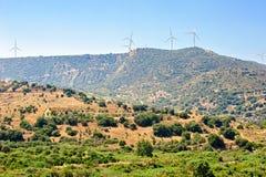 Wind farm on Cyprus Stock Photography