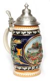 Traditional Czech beer mug Royalty Free Stock Photo