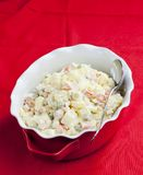 Traditional Czech Christmas potato salad. Inside, indoor, indoors, interior, interiors, gastronomy, cuisine, food, aliment, aliments, meal, meals, nutrition stock photos