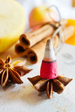 Traditional Czech christmas - smoking incense cones Stock Photo