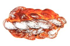 Traditional czech christmas twist bread Stock Photography