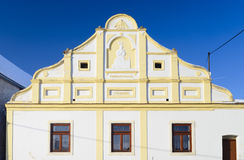 Traditional Czech cottage. Facade, detail Royalty Free Stock Image