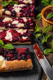Traditional Czech crumble with berries Royalty Free Stock Photos