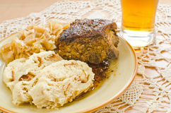Traditional Czech dinner Royalty Free Stock Photo