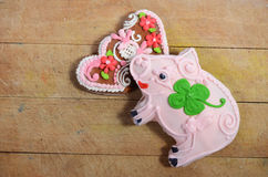 Traditional czech gingerbreads Stock Images