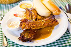 Traditional czech pork ribs Royalty Free Stock Photo