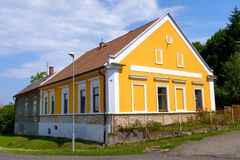 Traditional Czech rural home. A traditional rural home in a village in the Czech Republic royalty free stock photo