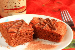 Traditional Czech sweet cake Stock Images