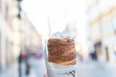 Traditional Czech sweet treat Trdelnik royalty free stock photo