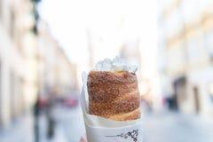 Traditional Czech sweet treat Trdelnik royalty free stock photo