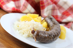 Traditional Czech white pudding Stock Photos