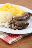 Traditional Czech white pudding Royalty Free Stock Photography