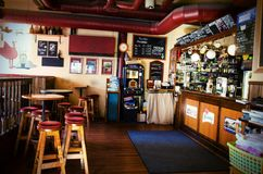 Traditional czeck beer pub in Tampere, Finland Stock Photos