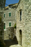 Traditional dalmatian house. In Hvar island, Croatia Royalty Free Stock Image