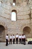 Traditional Dalmatian Singers. Split, Croatia - September 7, 2015: Chorus of Traditional Dalmatian Singers in The Vestibule of Diocletian's Palace Stock Photos
