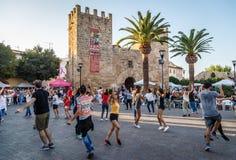 Traditional dance Ball de bot in Alcudia, Mallorca