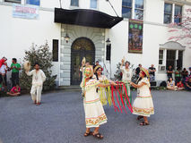 Traditional Dance at the Bolivian Embassy Royalty Free Stock Image