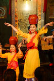 Traditional dance with clay pots Stock Images