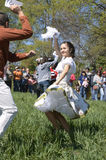 Traditional dance on the day of St. Francis of Assisi, Chile. Couple dancing the cueca during La Fiesta de San Francisco is a religious tradition that has been Stock Photography