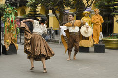 Traditional dance in Peru Stock Images
