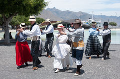 Traditional dance, Tenerife, Spain Royalty Free Stock Photo