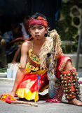 Traditional dancer in colorful costume is Stock Photos