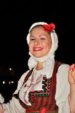Traditional dancer from Macedonia Royalty Free Stock Images