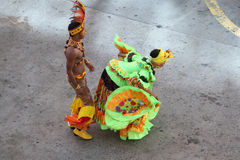 Traditional dancers in Cartagena, Colombia Royalty Free Stock Photos